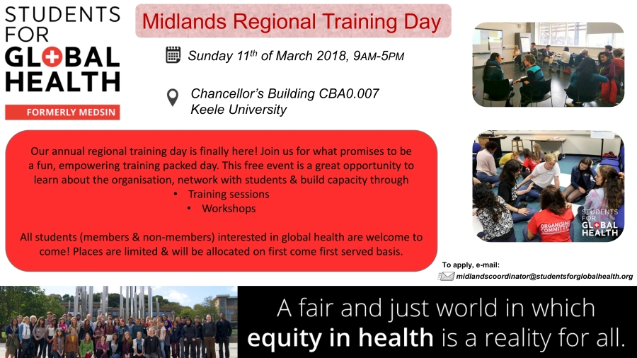 SfGH Midlands training day - Medsin-UK Midlands Coordinator
